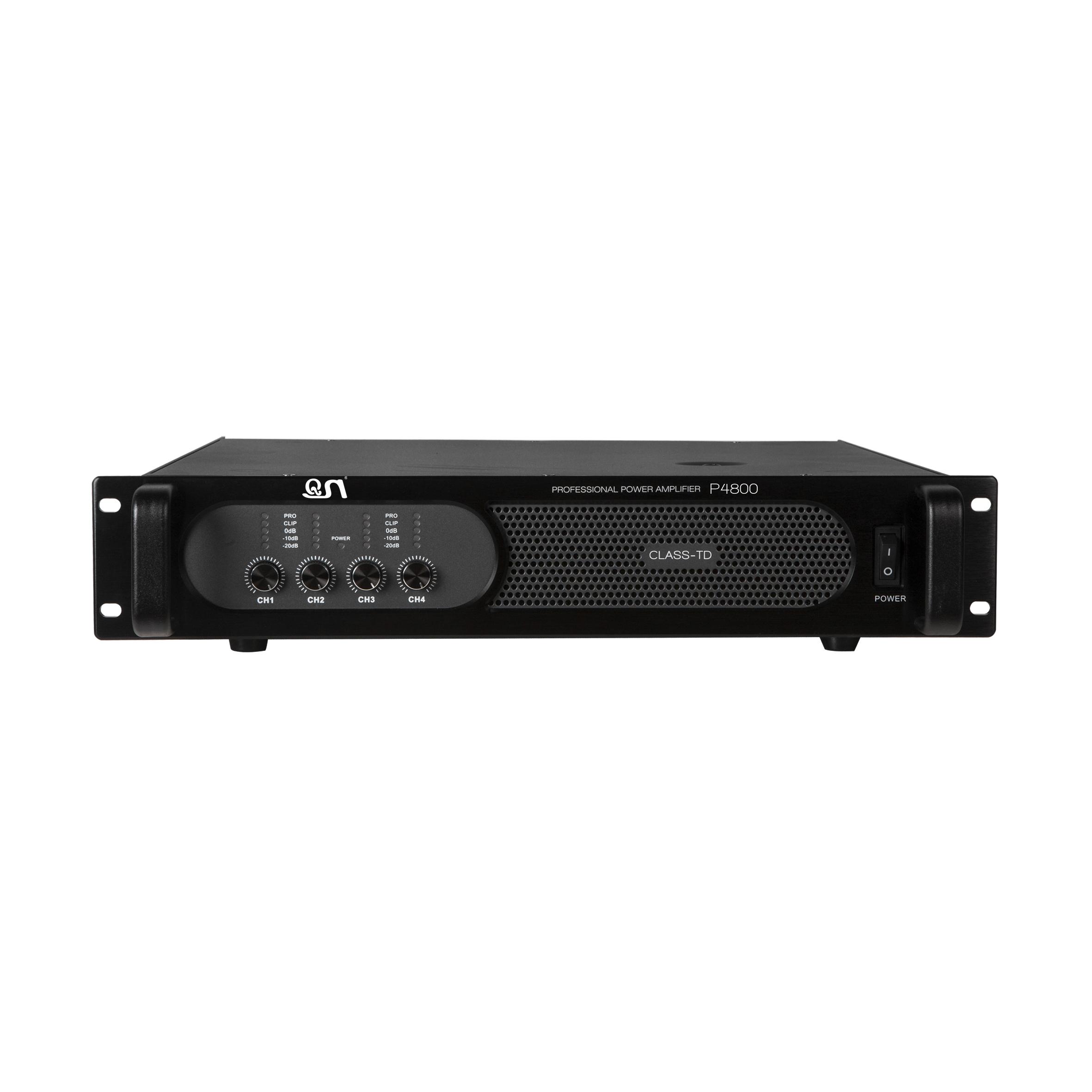 4 channels 1200w power amplifier PH4800