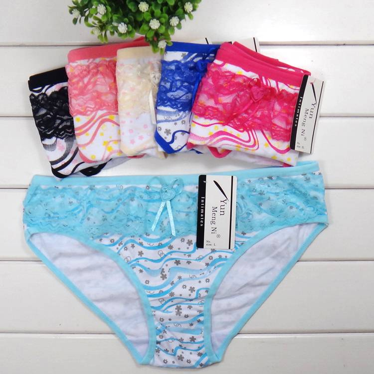 Beauty Cotton Girls Briefs Panties Sexy Women Underwear Laides Underpants Thong Lingerie