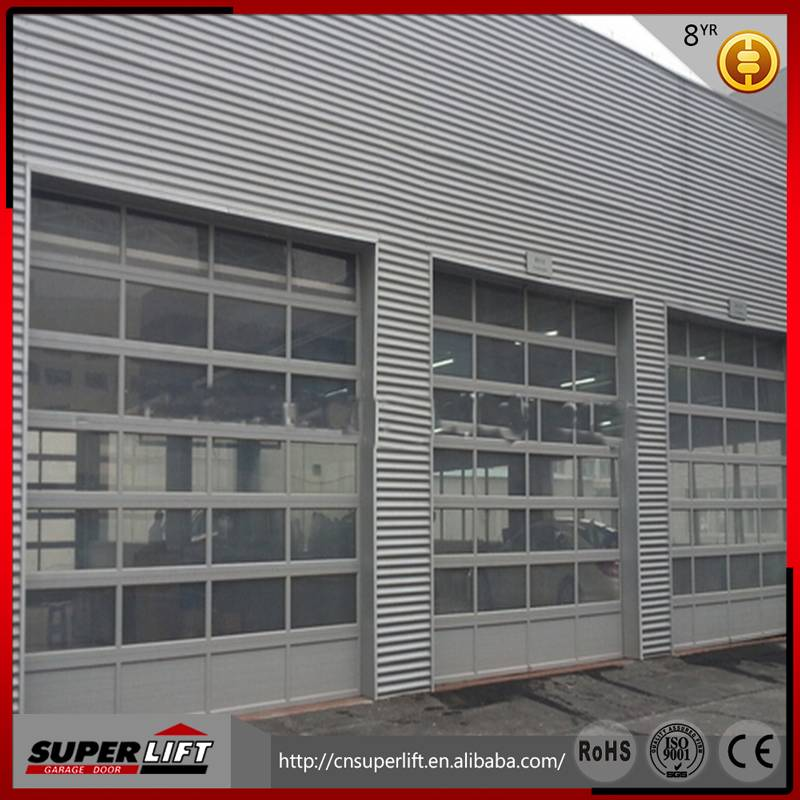 Aluminum glass panel garage door / Electric glass garage port