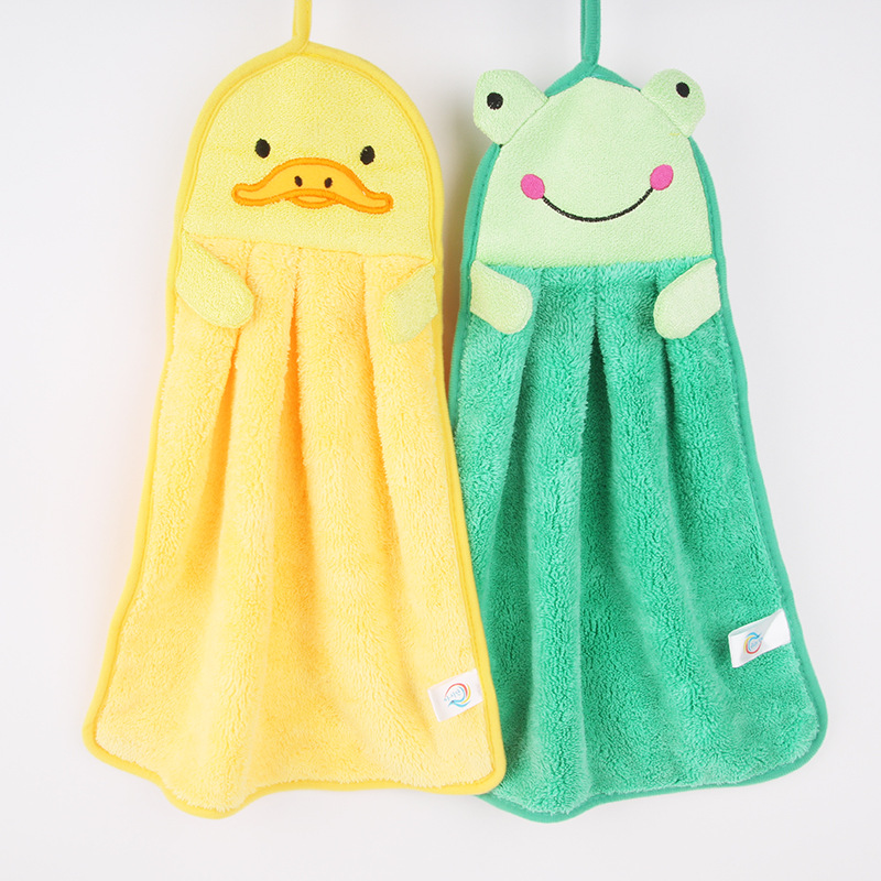 Custom Wholesale Plush Frog or Duck Toy Hand Towel
