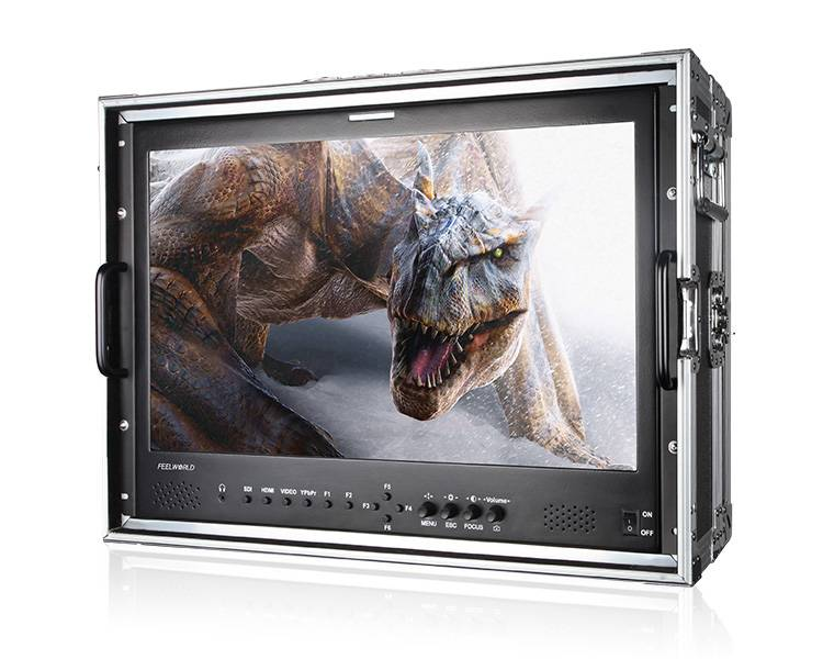 "21.5""High Resolution 1920x1080 and High Contrast 3000:1 IPS HDMI SDI Carry-on Monitor"