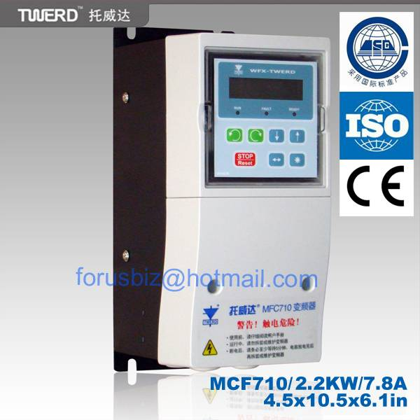 Twerd Variable Frequency drive 1.5kw/400v / three phase MFC710type with DTC-SVM technology