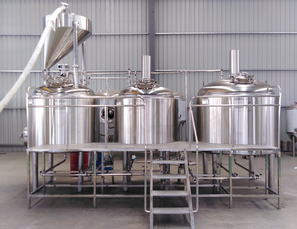 500L craft beer brewing equipment with fine polishing