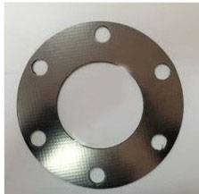 Reinforced Graphite Gasket with tanged metal insertion