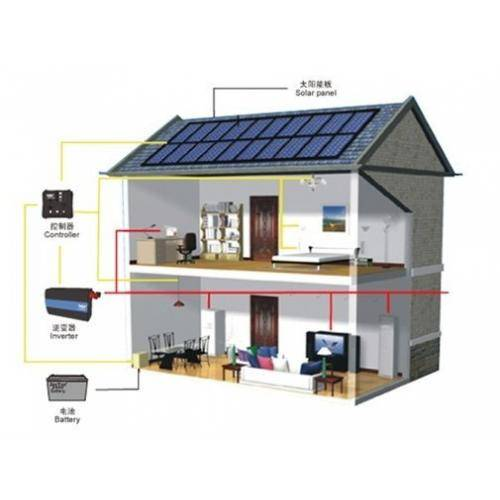 Aluminum PV roof mounting home solar system