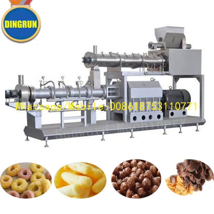 small Fried or baked puff corn snacks food machine