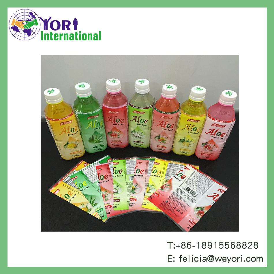 Yori custom logo for bottle pvc heat shrink label
