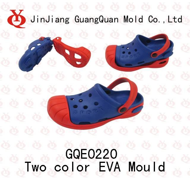 Double colourEVA garden shoes mould GQE0220