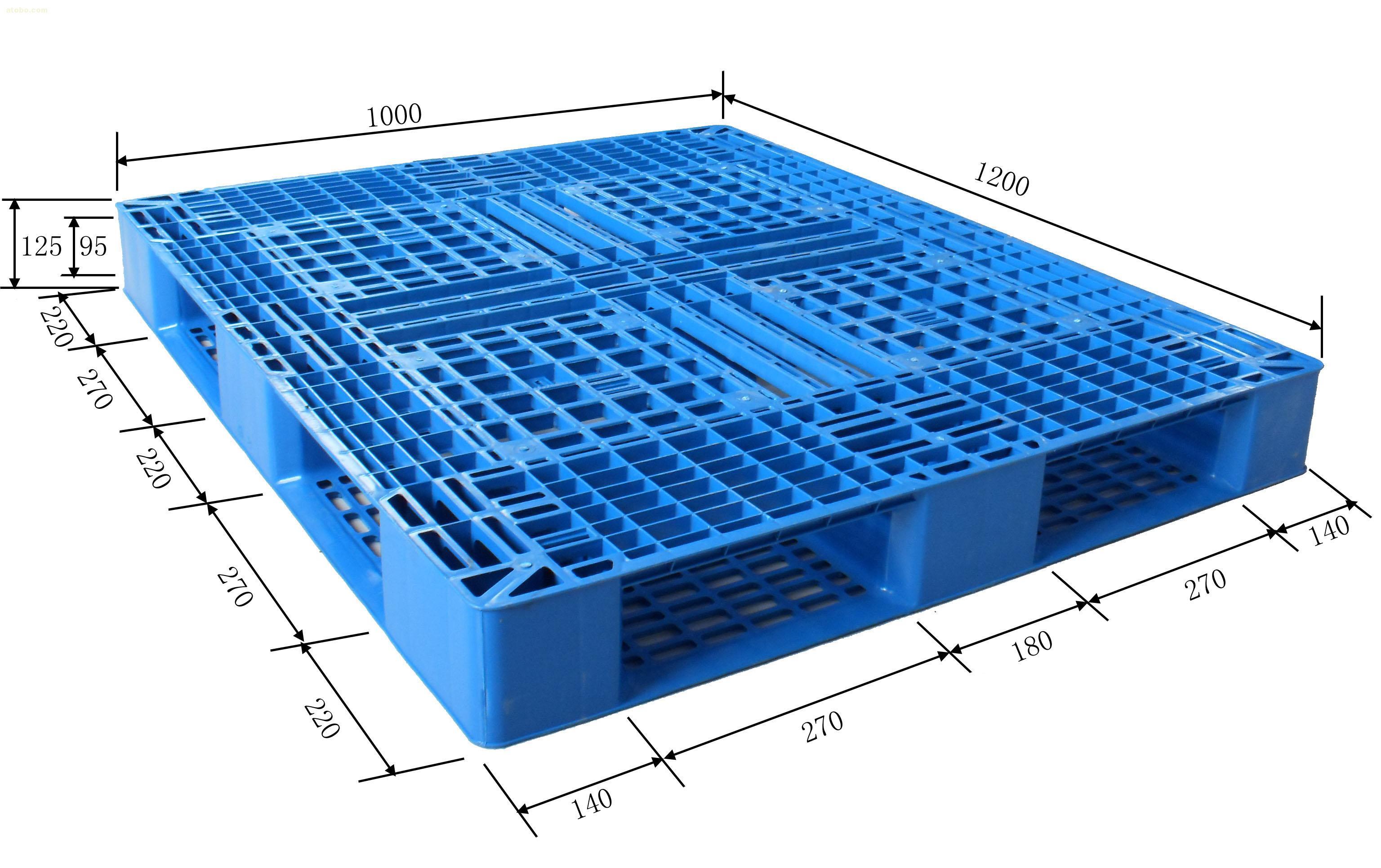 cheap 1210 double plastic pallets