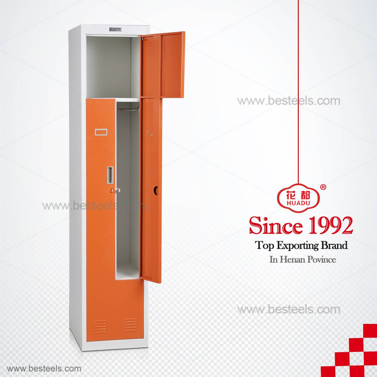 HDG-56 Z shape steel almirah/metal locker