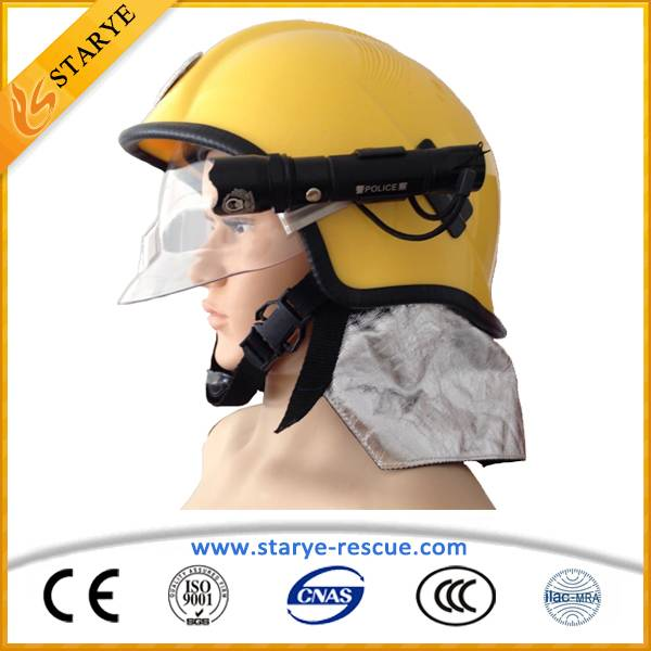 Alternative Color Fireman's Helmet with Flashlight