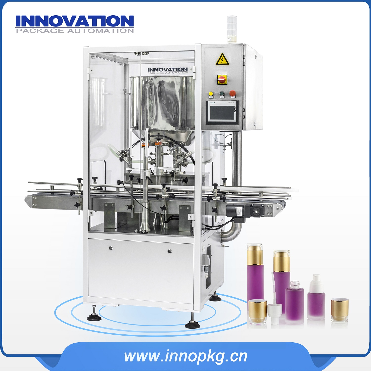 Automatic cosmetic Toner filling machine with PLC control system