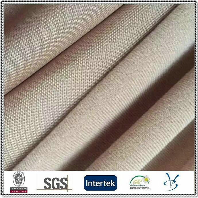 polyester cheap loop velvet tricot brushed fabric
