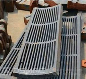 Grid plate, Grate plate for hammer crusher, impact crusher