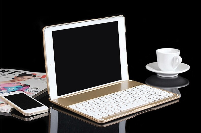 High quality laptop flip intelligent induction wireless bluetooth keyboard for iPad Air