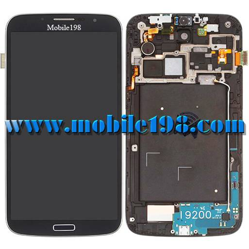 LCD Screen Display and Touch Screen with Front Housing for Samsung Galaxy Mega 6.3 I9200 Mobile Phon