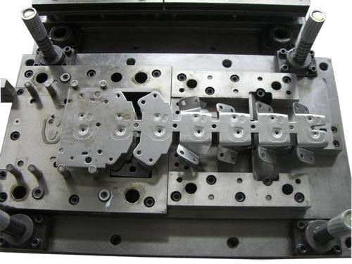 Big Progressive Die, Used to Stamp Metal Parts for Signal Receiver Machine