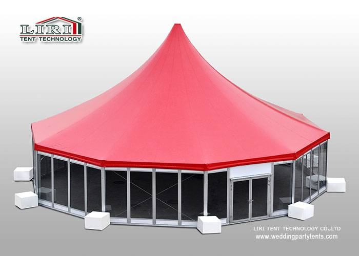 300 people High Peak Tent with glass wall system for event