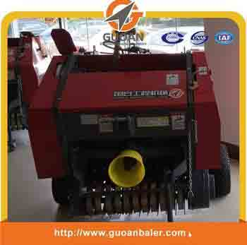 Tractor PTO driven round hay straw baler machine