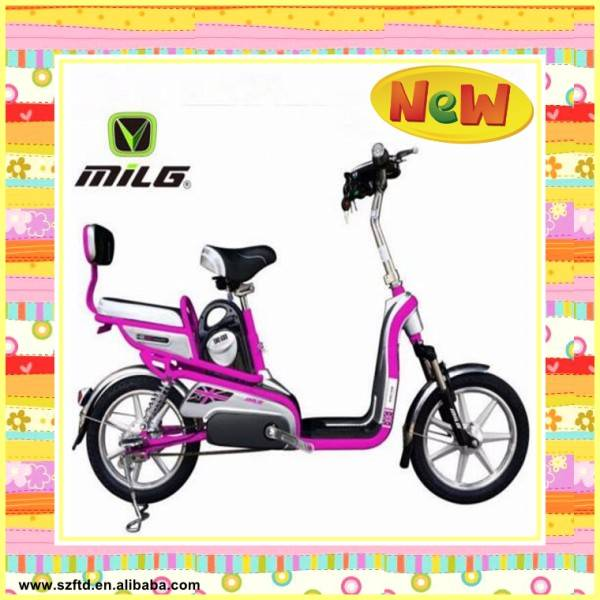 2015 popular green electric scooter with pedal