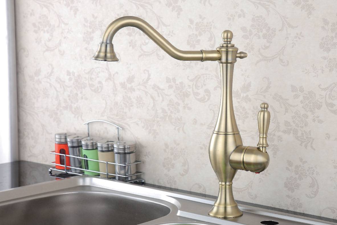 Antique Copper Kitchen Faucet