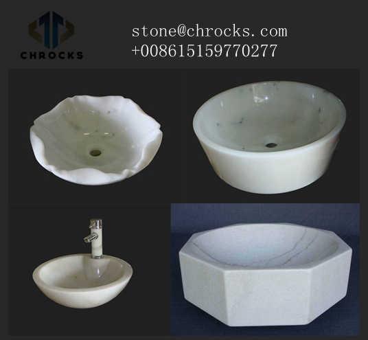 White Marble Bath Sink,Vessel Basin,Bthroom Sink