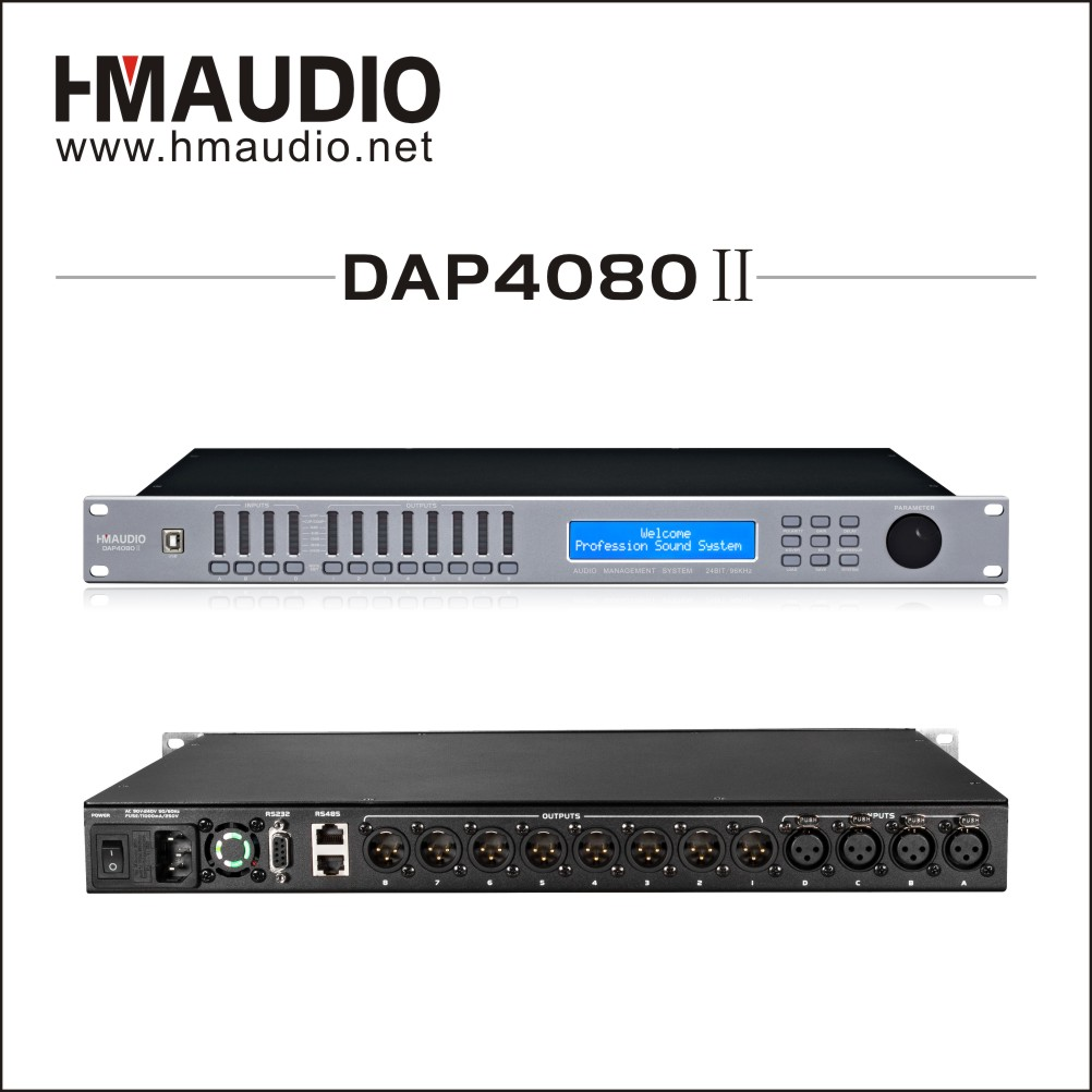 4 in 8 out loudspeaker management for outdoor performances DAP4080II