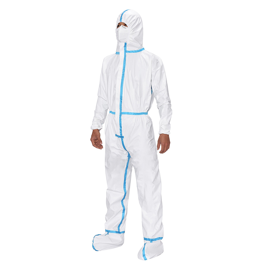 Covid-19 protection Disposable Medical protective coverall in stocks
