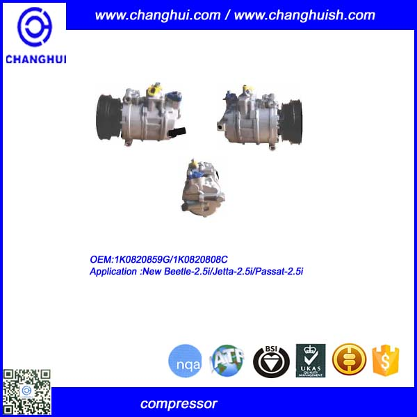 OEM 1k0820859G A/C COMPRESSOR FOR New Beetle-2.5i/Jetta-2.5i/Passat