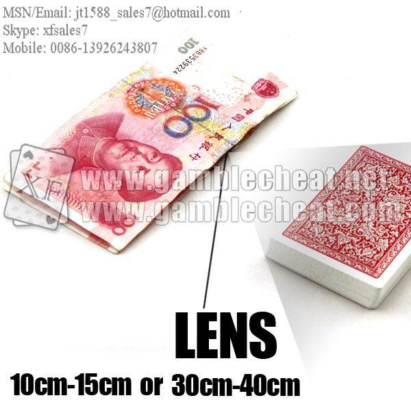 XF Money Lens/poker analyzer/poker cheat/contact lens/infrared lens/poker scanner/marked cards