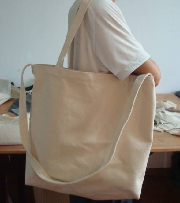 plain white superior quality cotton canvas bag