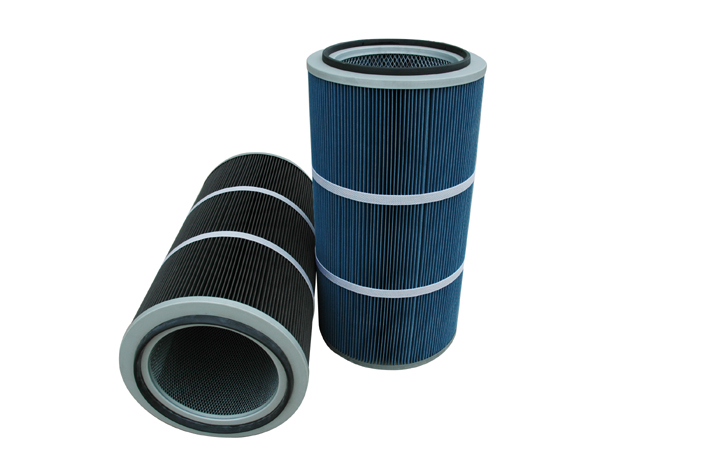 Nano fiber cartridge filter for air purifying