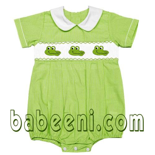 alligator smocked bubble
