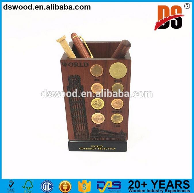 Customized Personalized wood pen holder