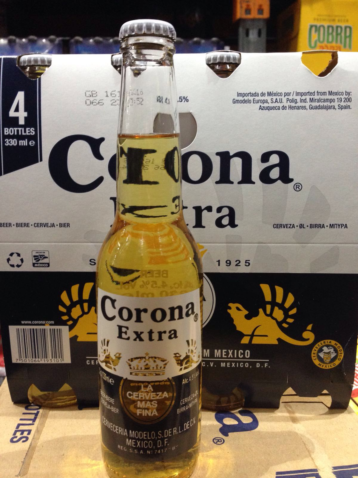 Corona beer,Bavaria beer and non alcoholic drinks cans and bottles 250ml and 330ml