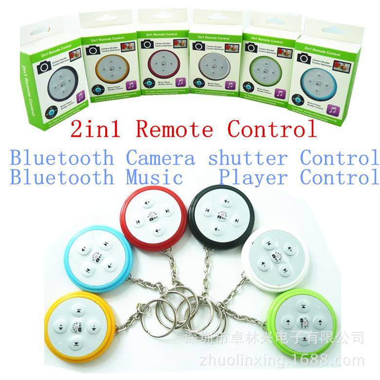 2in1 Bluetooth Camera Shutter/Music Player Shutter Remote Control For IOS&Andriod OS Smartphone