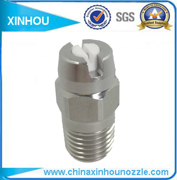 Industrial washing axial veejet flat spray nozzle