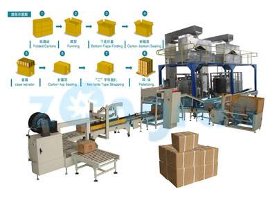 LB450-3 automatic boxing packing machine production line