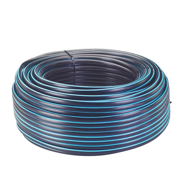 "1/2"" 5 layers irrigation flexible blue stripe drip pvc garden hose"