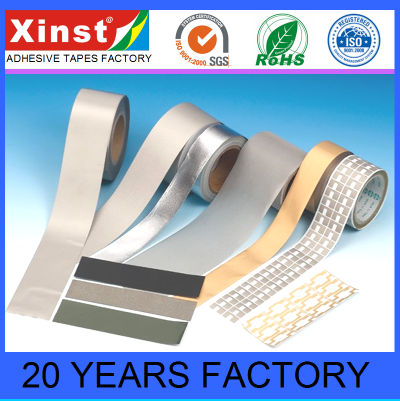 Die Cutting Conductive Fabric Cloth Adhesive Tape For LCD Phone EMI Shielding