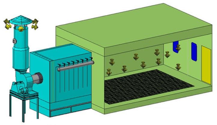 Eco-friendly spray booth