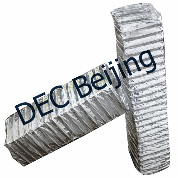 Fire resistant 5 inch 25ft rectangular flexible aluminum foil duct for HVAC systems