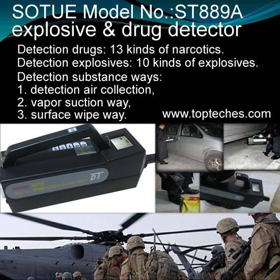 hand-held bomb detector and explosives detector