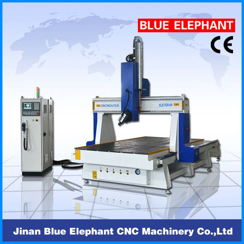 4 axis cnc router 1530 for sale/4-axis wood cnc router