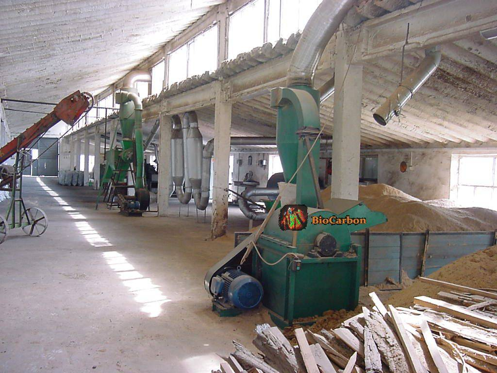 Workshop for sawdust Briquettes