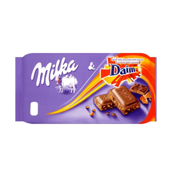 High Quality Miniature Famous Brand 100g Milka Daim Chocolate