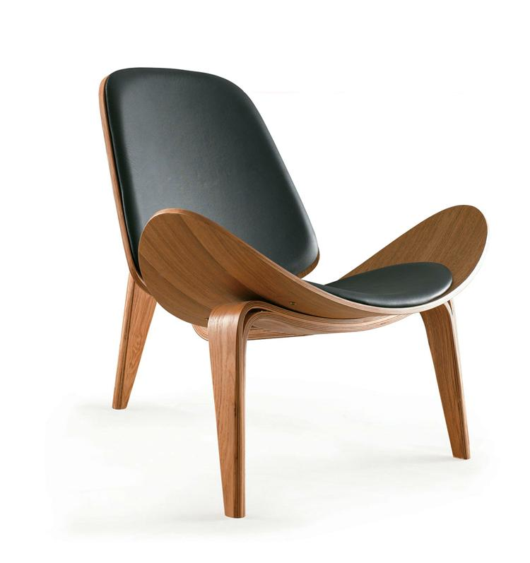Cafe Shop Plywood Shell Chair Lounge Chair