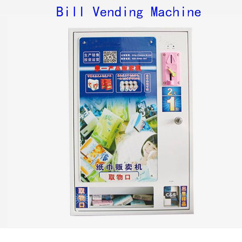 Automatic Falling Bill Vending Machine Small Condom Vending Machine