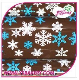 Christmas Snowflake Chocolate Transfer Sheets Xiamen Yasin