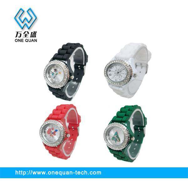 Newest!!! Christmas analogue silicone watch
